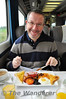 A Restaurant service of Breakfast and Dinner is available on the WAG service between Holyhead and Cardiff. Mr. Whicker is clearly delighted to be tucking into his breakfast. Fri 24.05.13
