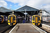 158721 and 158711 at Inverness. 158721 has just arrived with a Far North Line service while 158711 will be working to 0900 to Kyle of Lochalsh. Note to the left the first built 158: 158701. Mon 29.04.13