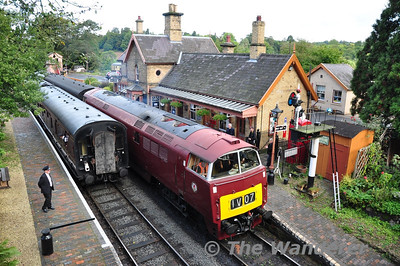 D1062 departs Arley. 1030 Bridgnorth - Kidderminster. Fri 04.10.13