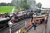 Bridgnorth Loco Depot with plenty of Steam Locos. Thurs 03.10.13