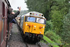 50031 arrives at Hampton Loade. 1347 Kidderminster - Bridgnorth. Fri 04.10.13