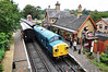 37109 arrives at Arley with the 1118 Bridgnorth - Kidderminster. Fri 04.10.13