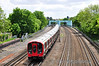 21017 passes Highfield Road Bridge, Northwood. Sat 25.05.13