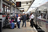 A busy scene at Peterborough as passengers join the 1130 London Kings Cross - Edinburgh. Sun 26.05.13