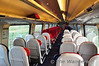 Standard Class Interior of vehicle 60854, part of unit 221104. Note there is only 2 tables in the coach with the rest of the seats in airline configuration. Compare this to the IE 22000 Class DMU's which have the majority of their seats in a table configuration. Thurs 23.05.13