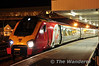 Virgin Trains Super Voyager 221113 stands in Platform 1 at Holyhead with the 0655 to London Euston. Tues 02.10.13