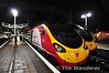 Early morning in Manchester Piccadilly sees 390123 waiting to depart with the 0643 to London Euston via Crewe. Thurs 03.10.13