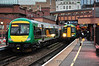 153334 + 170635 1803 Dorridge - Stourbridge Jct. and 172322 1755 Stourbridge Jct - Tyseley at Birmingham Snow Hill. Thurs 03.10.13