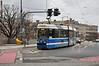 2712 comes off University Bridge with a 7 line tram. University of Wroclaw. Fri 01.02.13