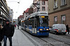 Wroclaw Tram 2712 on a line 7 service to Marino just after departing Olawska. Thurs 31.01.13