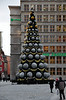 Wroclaw Christmas Tree. In Poland many Christmas Trees stay up until February 2nd for the feast day of St. Mary of the Candle of Lightning. Thurs 31.01.13