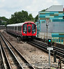 21398 arives at Latimer Road with Circle Line Train 243 to Hammersmith. Sat 09.08.14