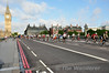 Cyclists set off across Westminister Bridge as part of the Prudential RideLondon weekend. Sat 09.08.14
