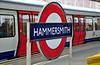 Hammersmith Station Sign. Sat 09.08.14