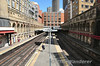 Barbican Station. The two tracks on the right are the disused National Rail Lines from Farrington to Moorgate. Sat 09.08.14