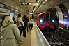 Victoria Line, 11020 arrives at Green Park. Sun 10.08.14