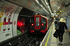 Victoria Line 09 Stock, 11049 departs Green Park. Sun 10.08.14