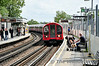 91171 arrives at East Acton. White City Station. Sun 10.08.14