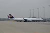 Airbus A340 D-AIHK at Munich. Fri 07.11.14