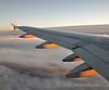 Sunlight glints off EI-DVI on flight EI352 DUB-MUC. Fri 07.11.14