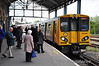 Pioneer Class 507, 507001 arrives into Chester with 1301 Chester to Chester via Liverpool. Fri 02.05.14