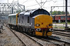 "37423 arrives into Crewe to form 1116 Crewe to Derby R.T.C with the former Southern Region Inspection Car 975025 ""Caroline"". Sat 03.05.14"