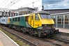 90045 at Stratford with 0503 Trafford Park F.L.T. to Felixstowe North F.L.T. Wed 23.04.14