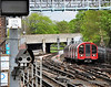 91161 emerges from the Hainault Branch tunnel at Leytonstone. Wed 23.04.14