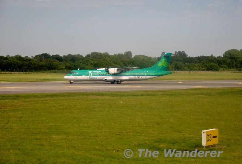 Stobart Air EI-FAT at Dublin Airport. Fri 10.07.15