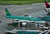 Aer Lingus EI-DEN on stand at Dublin Airport. Fri 05.06.15