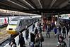 43311 arrives into York leading the 1600 London Kings Cross - Aberdeen. Tues 19.05.15