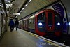 Victoria Line 09 stock 11006 arrives at Euston with a northbound service. Sat 19.11.16