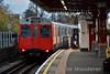 7535 brings up the rear of a District Line train to Richmond as it departs Ravenscourt Park. Sat 19.11.16