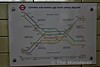 Diagram of the complicated layout at Camden Town on the Northern Line where the High Barnet & Edgware branches from the North & from the South the Bank Branch & Charing Cross Branch all converge. Sat 19.11.16
