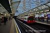 73 stock car 241 arrives into Hammersmith Station. Sat 19.11.16