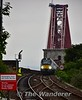 68025 has just crossed the Forth Bridge and is pictured arriving into North Queensferry with the 1720 Edinburgh to Cardenden. Tues 02.08.16