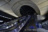 Canary Wharf station is the jewel in the crown of the Jubilee line extension. Escalators to street level. Fri 13.01.17