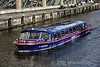 Tour boat on the Singelgracht Canal. Fri 24.02.17