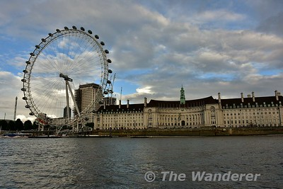 The London Eye and County Hall. Sat 16.09.17