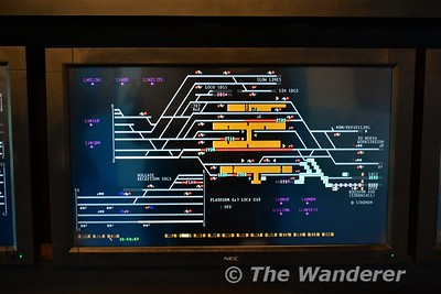 The viewing area of the National Railway Museum also has a signalling display of York Station and surrounding area. Sun 12.11.17