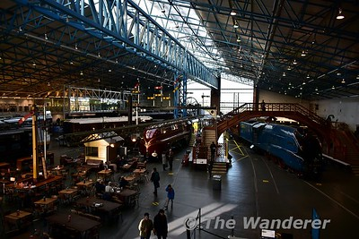Overview of the Great Hall at the National Railway Museum. Sun 12.11.17