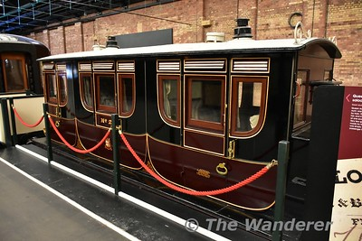 Queen Adelaide's Saloon, No. 2 on display in the Station Hall at the National Railway Museum. Sun 12.11.17