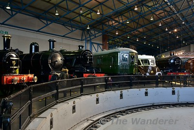Line up around the turntable on display in the Great Hall at the National Railway Museum. Sun 12.11.17
