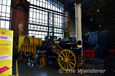 Replica of Rocket on display in the Great Hall at the National Railway Museum. Sun 12.11.17