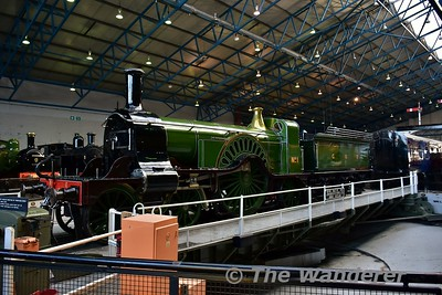 Great Northern Railway, 4-2-2 No 1 on display in the Great Hall at the National Railway Museum. Sun 12.11.17