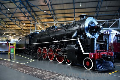 Chinese Government Railways Steam Locomotive 4-8-4 KF Class No 7 on display in the Great Hall at the National Railway Museum. Sun 12.11.17