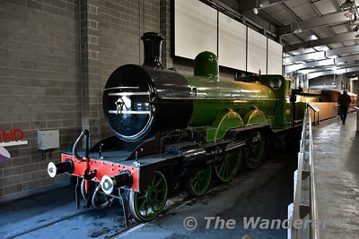 """Great Northern Railway, No. 990 """"Henry Oakley"""" on display in the Great Hall at the National Railway Museum. Sun 12.11.17"""