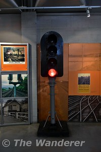 Signal on display at the National Railway Museum. Sun 12.11.17