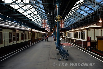 Royal Carriages on display in the Station Hall at the National Railway Museum. Sun 12.11.17