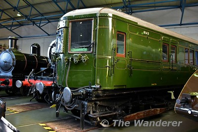 Motor Coach S8143S, 4SUB on display in the Great Hall at the National Railway Museum. Sun 12.11.17